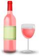Rosewein mit Weinglas