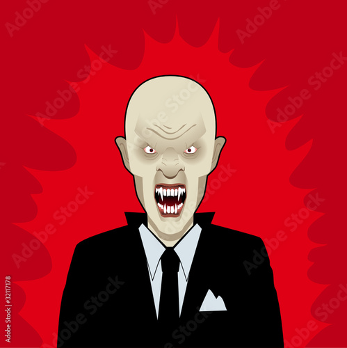 Vampire businessman shock