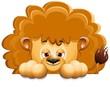 Leone Cucciolo Cartoon Sfondo-Baby Lion Background-Vector