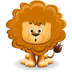 Leone Cucciolo Cartoon-Cute Baby Lion-Vector