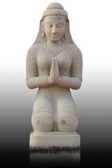 Thai style girl statue, Thailand