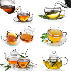 Tea collage