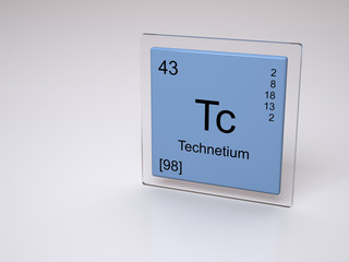 Technetium - symbol Tc - chemical element of the periodic table