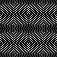 Seamless geometric pattern. Op art. No gradient.