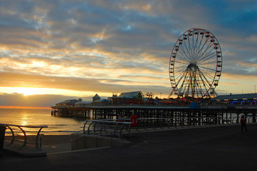 Blackpool - Sunset