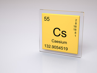 Caesium - symbol Cs - chemical element of the periodic table