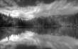 Polish Tatra mountains Smreczynski staw lake B&W