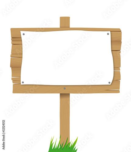panneau en bois avec affiche vierge fichier vectoriel libre de droits sur la banque d 39 images. Black Bedroom Furniture Sets. Home Design Ideas