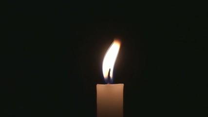 Close up burning candle-slow motion