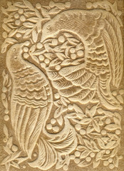 Embossed Ornament with Birds