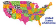detailed map of USA with ALL counties