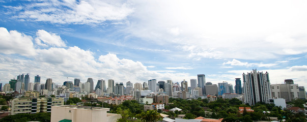 Landscape of Bangkok Skyscraper business building