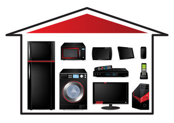 Home appliances concept - Vector Illustration