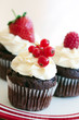 Red berry cupcakes