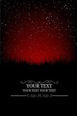 Red night sky card