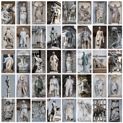 statue di Milano collage