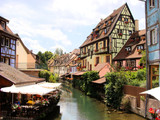 Canal in Petite Venice neighborhood of Colmar, France