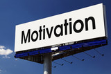 Motivation word on billboard. poster