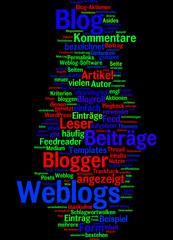 Weblogs (bunt, schwarzem hintergrund)