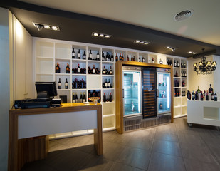Interior of  wine shop