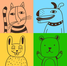 quatre animaux