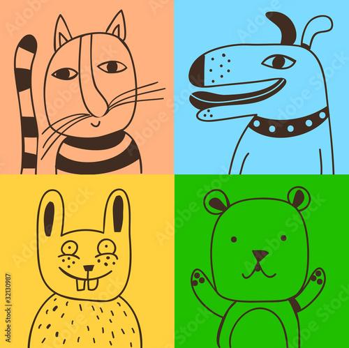 four pets © Complot