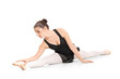 Ballerina sitting and preparing