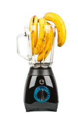 Blender with bananas