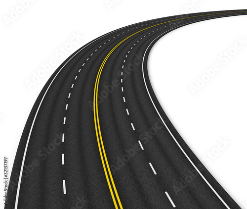 Autobahn isolated on white