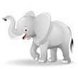 Elefante Cucciolo Cartoon-Cute Baby Elephant-Vector