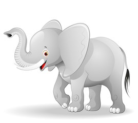 Elefante Cucciolo Cartoon-Cute Baby Elephant-Vector