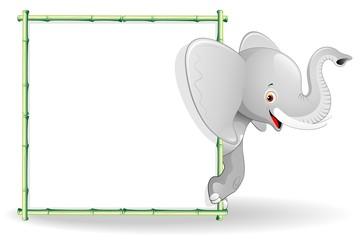 Elefante Cucciolo Cartoon Sfondo-Baby Elephant Background-Vector