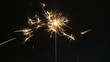 Sparkler burning down, slow motion
