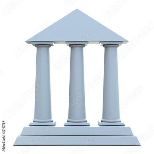 Ancient building with 3 columns