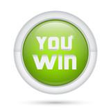 Bottone 3D_You Win Verde