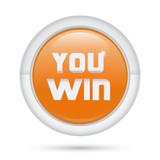 Bottone 3D_You Win Arancio