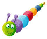 Smiling colorful caterpillar