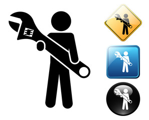 Repairs pictogram and signs