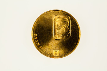 Israel 100 Lira gold coin commemorating Theodor Herzl