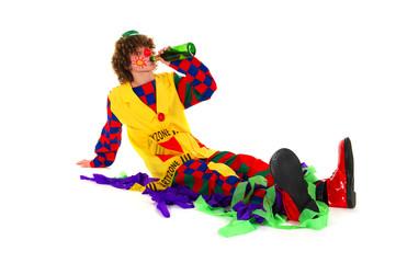 Drinking clown