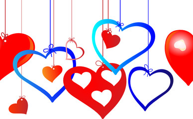Украшения из сердец