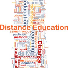 Distance education background concept