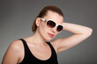fashionable young woman with sunglasses