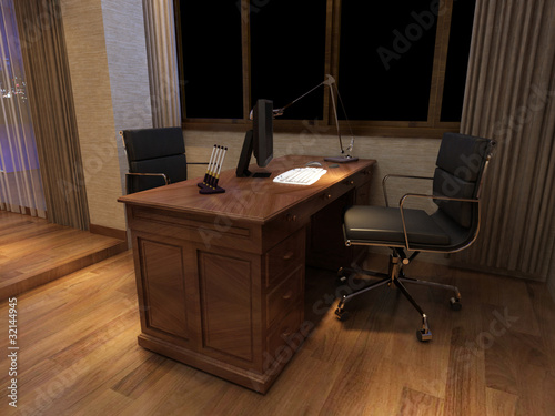rendering office room