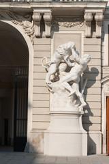 Statue in the castle Hofburg. Vienna. Austria