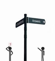 direction with question and aswers