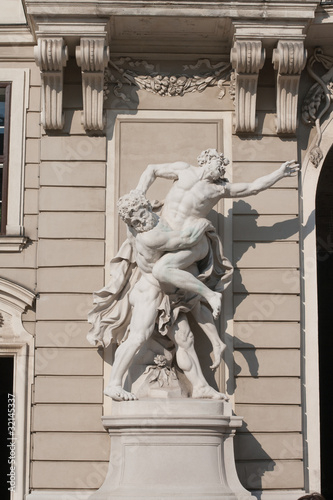 Statue in the castle Hofburg. Vienna. Austria