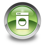 "Green Glossy Pictogram ""Laundromat"""