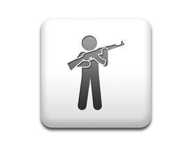 Boton cuadrado blanco hombre armado