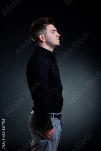 side of a  man standing